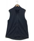 COMOLI(コモリ)の古着「シルクネップジャージベスト」|ブラック