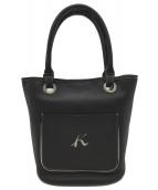 KITAMURA(キタムラ)の古着「バケツ型ハンドバッグ」|ネイビー