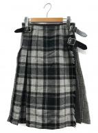 ONEIL OF DUBLIN(オニール オブ ダブリン)の古着「ラップコンビスカート」|グレー