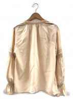 ANAYI(アナイ)の古着「シルクデシンデザインスリーブブラウス」|ベージュ