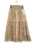 JILL BY JILLSTUART(ジルバイジルスチュアート)の古着「フラワーチュールスカート」|ピンク
