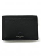 ()の古着「3つ折り財布」 ブラック×パープル