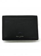 PELLE MORBIDA(ペッレモルビダ)の古着「3つ折り財布」 ブラック×パープル