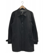 BURBERRY BLACK LABEL(バーバリーブラックレーベル)の古着「ステンカラーコート」|ブラック