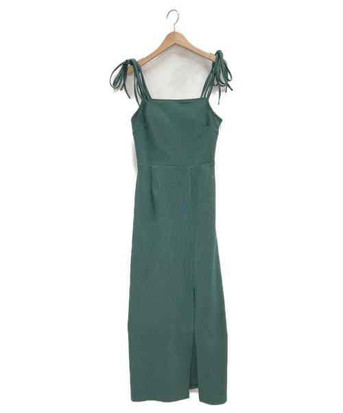 Rosary moon(ロザリームーン)ROSARY MOON (ロザリームーン) Stretch Cami Dress グリーン サイズ:Fの古着・服飾アイテム