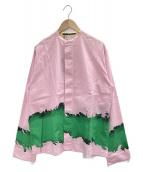 HAIDER ACKERMANN(ハイダーアッカーマン)の古着「バンドカラーシャツ」|ピンク