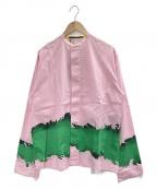 HAIDER ACKERMANN(ハイダーアッカーマン)の古着「バンドカラーシャツ」 ピンク
