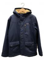 Patagonia(パタゴニア)の古着「ボーイズ・インファーノジャケット」|ネイビー×ベージュ