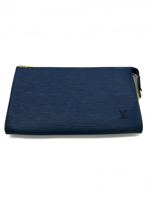 LOUIS VUITTON(ルイ ヴィトン)LOUIS VUITTON (ルイ ヴィトン) ポーチ ブルー エピ M52945 AR1909の古着・服飾アイテム