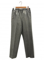 CellarDoor(セラドール)の古着「ハウンドトゥースチェックトラウザーパンツ」|カーキ×グレー