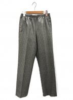 CellarDoor(セラードアー)の古着「ハウンドトゥースチェックトラウザーパンツ」|カーキ×グレー
