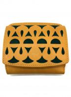 Sybilla(シビラ)の古着「2つ折り財布」 イエロー×グリーン