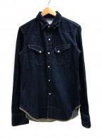 MARKA(マーカ)の古着「デニムウエスタンシャツ」|インディゴ
