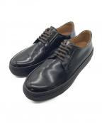 Pantofola dOro(パントフォラドーロ)の古着「プレーントゥレザースニーカー」|ダークブラウン
