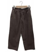 CAMIEL FORTGENS(カミエル フォートヘンス)の古着「chu chu pants」|ブラウン