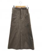 MACPHEE(マカフィー)の古着「トラペーズスカート」|ブラウン