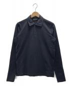 PRADA(プラダ)の古着「長袖ポロシャツ」|ネイビー