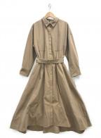 Demi-Luxe Beams(デミルクス ビームス)の古着「Wポケットシャツカラーワンピース」 キャメル