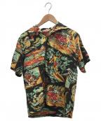 MISTER FREEDOM(ミスターフリーダム)の古着「アロハシャツ」 ブラック×グリーン×イエロー