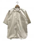 DANTON()の古着「ポプリンシャツ」 ベージュ
