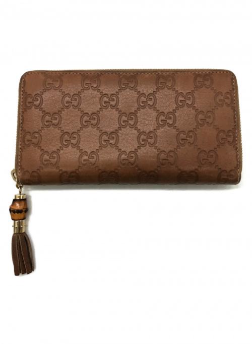 GUCCI(グッチ)GUCCI (グッチ) 長財布 ブラウン GG 224253 525040の古着・服飾アイテム