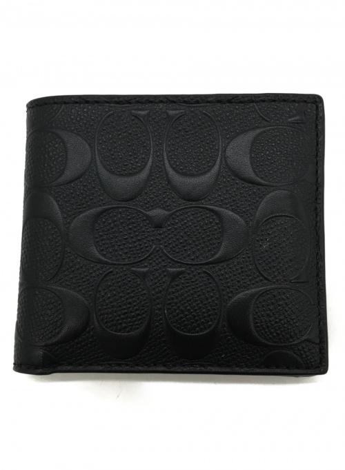 COACH(コーチ)COACH (コーチ) 2つ折り財布 ブラック F75363の古着・服飾アイテム