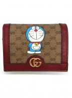 ()の古着「2つ折り財布」|レッド×ベージュ