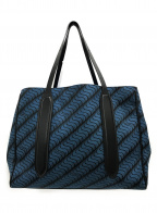 SMYTHSON(スマイソン)の古着「ブルートートバッグ」 ブルー×ブラック