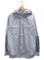 JUNYA WATANABE CdG(ジュンヤワタナベコムデギャルソン)の古着「フーデットシャツジャケット」 ブルー