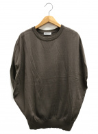 BEAUTY&YOUTH(ビューティアンドユース)の古着「14ゲージワイドフレンチスリーブニットプルオーバー」|オリーブ