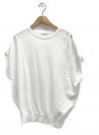 BEAUTY&YOUTH(ビューティアンドユース)の古着「14ゲージワイドフレンチスリーブニットプルオーバ」|ホワイト