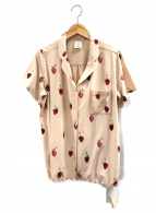 gelato pique(ジェラート・ピケ)の古着「ストロベリーモチーフシャツ」 ベージュ