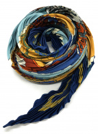 HERMES(エルメス)の古着「プリーツスカーフ」|ブルー