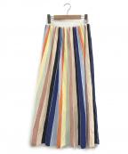 Diagram GRACE CONTINENTAL()の古着「ロングストライプスカート」|マルチカラー