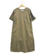 MHL(エムエイチエル)の古着「リネン混ワンピース」|オリーブ