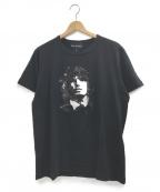 Dartin Bonaparto(ダルタン ボナパルト)の古着「スパンコールTシャツ」 ブラック×ホワイト