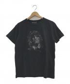 Dartin Bonaparto(ダルタン ボナパルト)の古着「スパンコールTシャツ」 ブラック