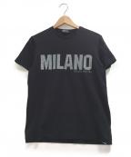 EMPORIO ARMANI EA7(エンポリオアルマーニ イーエーセブン)の古着「プリントTシャツ」|ブラック