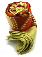 HERMES()の古着「シルクスカーフ」|オレンジ×イエロー