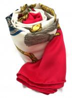 HERMES()の古着「シルクスカーフ」|ホワイト×ショッキングピンク