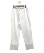 gelato pique(ジェラート・ピケ)の古着「スポーティーロゴポンチロングパンツ」|ホワイト
