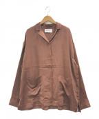 gelato pique(ジェラート・ピケ)の古着「サテンステッチシャツ」|ブラウン