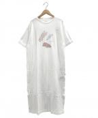 gelato pique(ジェラート・ピケ)の古着「ペイントアニマルドレス」|ホワイト