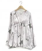gelato pique(ジェラート・ピケ)の古着「【ミュシャと椿姫】椿プルオーバー」 ラベンダー