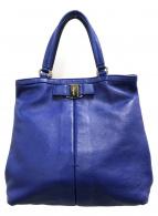 ()の古着「ハンドバッグ」 ブルー
