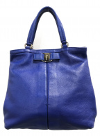 Ferragamo(フェラガモ)の古着「ハンドバッグ」 ブルー