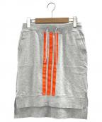 Y-3(ワイスリー)の古着「スウェットスカート」|グレー×オレンジ