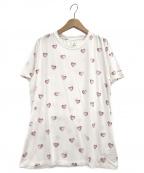 gelato pique(ジェラート・ピケ)の古着「ハートモチーフTシャツ」|ホワイト