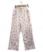 gelato pique(ジェラート・ピケ)の古着「ストロベリーサテンロングパンツ」|ピンク