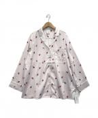 gelato pique(ジェラート・ピケ)の古着「ストロベリーサテンシャツ」|ピンク